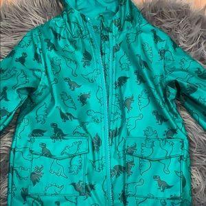 Other - Hooded dinosaur raincoat